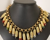 Brass Fire Polish Bullet Necklace Ammo .357 Sig Casing