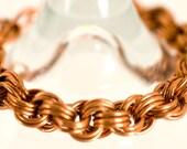 Copper Twisted Triple Spiral Bracelet