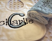 Personalized Embroidery : Applique Bib and Burpie