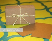 BLANK KRAFT CARDSTOCK Business Cards- Set of 50