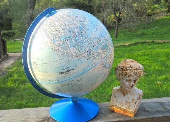 "World Globe, Replogle 12"" World Nation Series, Electric Blue Color"