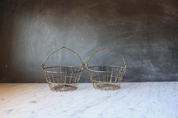 Pair of Vintage Wire Baskets