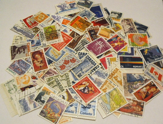 Lot of 150 Canadian Used Stamps From 5 cents to 2 dollars