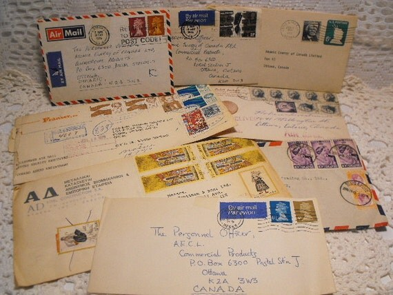 Lot of 8 Mixed Envelopes With Cancelled World Postage From the 1970's