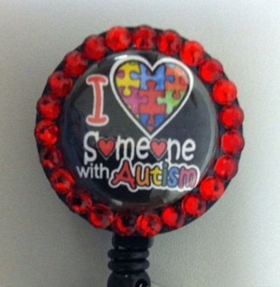 I Love Someone with Autism with Ribbon charm and beads