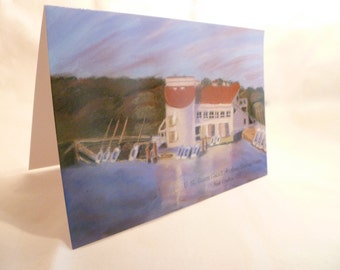 Greeting card, 5 x 7 (blank inside) - Nautical Landscape - Fine art reproduction