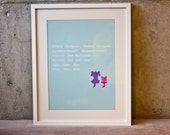 Berry Mojito Nursery Rhyme Print
