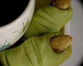 Ogre Toes are Almond Shortbread Cookies, Perfect for Halloween & Shrek Parties: 1 Five Toe Gift Box
