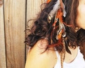 NATIVE AMERICAN hand braided leather HAIR wrap, belt, or necklace.