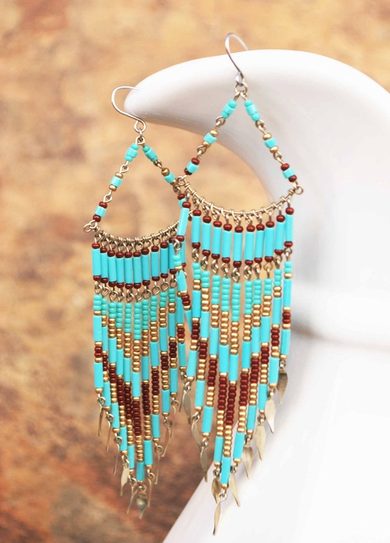 NATIVE AMERICAN SET.....Beautiful necklace and matching earrings