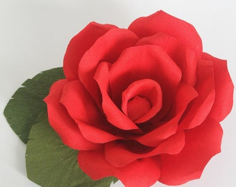Large paper rose for cake topper and table top