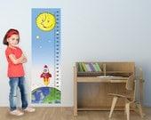 Children growth chart rocket