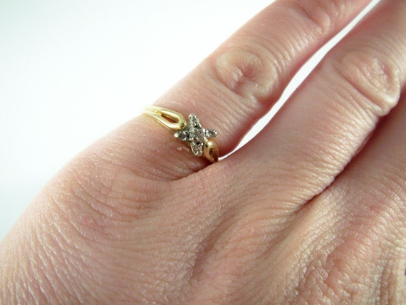 Reserved for Heather-14k Gold and diamond ring