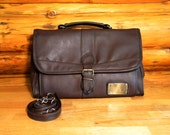 Vintage Student Bag, Shoulder, Messenger, Soft Briefcase, Travel, Unisex