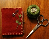 Little Wool Needle Book in Red