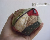 Tortoiseshell purse : Natural collection , Coin Purse, Cosmetic purse, Jewelry purse