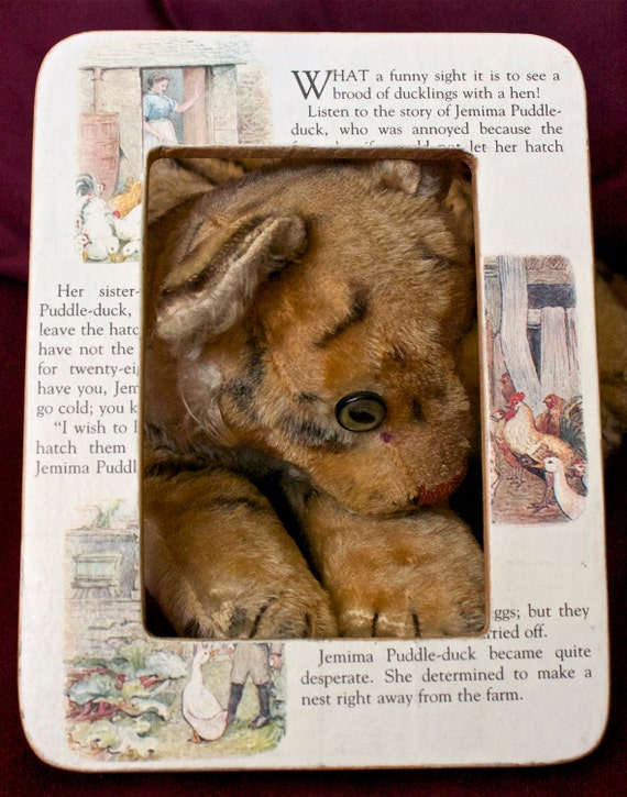"""Children's Book Page Decoupage Picture Frame: Beatrix Potter's """"The Tale of Jemima Puddle-duck"""""""