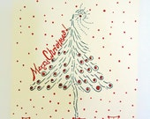 letterpress Christmas  Tree Cards