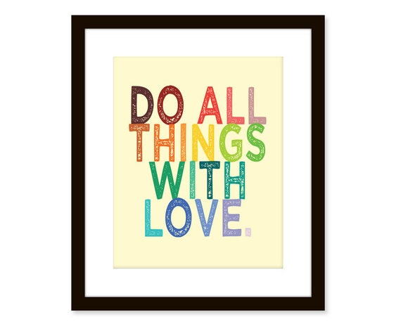 Love quote art print - change the colors to fit your room colors - inspirational wall decor