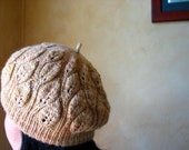 Knitting PDF Pattern-Camellia Leaf Hat for 2 sizes-Adult and Child