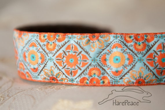 "Headband No-Slip Egyptian Goddess 1.5"" Jacquard"