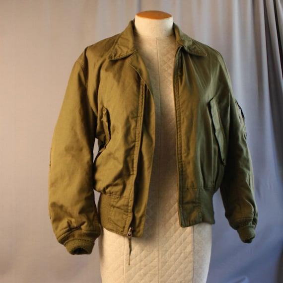 Vintage Army Bomber Jacket // Small Medium // Unisex