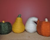 Yarn Wrapped Pumpkins & Gourds-READY TO SHIP
