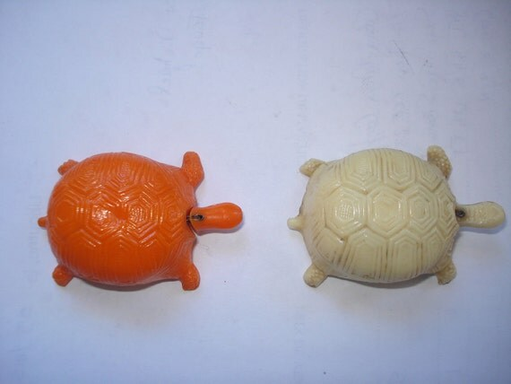 Two turtle novelty tape measures