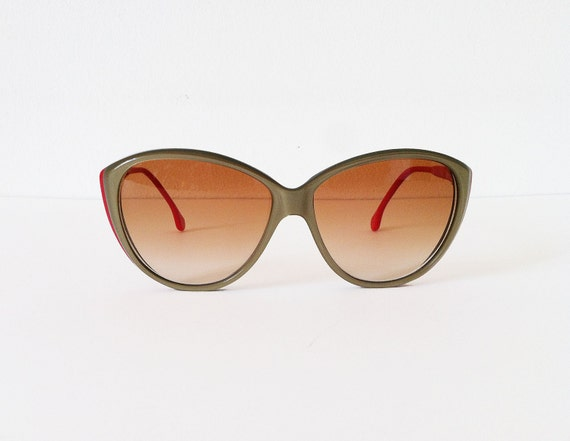 Vintage sunglasses Christopher Dunhill, green and red