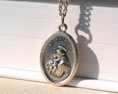 Saint Anthony Silver Pendant Necklace