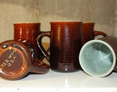 Red Wing Pottery: 5 Village Green Mugs