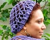 Summer Slouchy Beanie in Purple