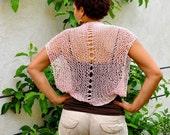CLEARANCE SALE Silk Cashmere Shrug in Blush Pink