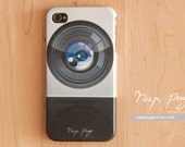 iphone 4 case , iphone 4s case , case for Iphone 4 Blackberry mobile Case handmade: Camera lens
