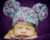 Baby Crochet Pom Pom Hat - Pom Pom Hat - Crochet Hat - Photo Prop - Crochet Pom Pom Hat - Baby Crochet Hat - Newborn Photo Prop