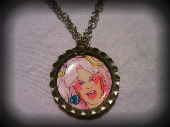 Jem and The Holograms Bottle Cap Necklace.
