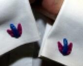 Flying Penis Cufflinks Blue Fuchsia Cuff Links Mature wedding favors groomsmens gifts