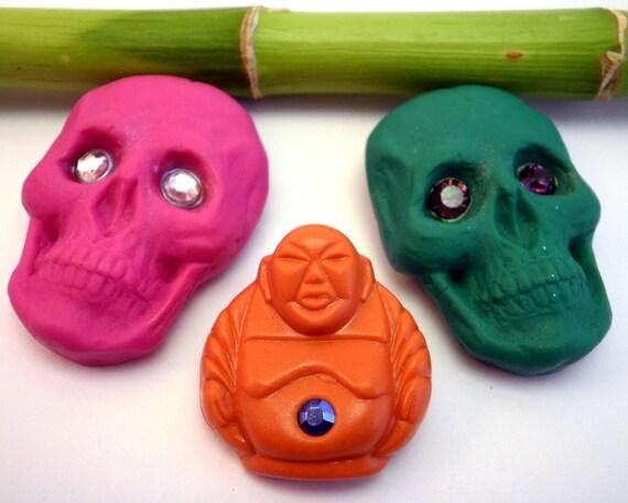 Buddha Brooch Skull Brooch Handmade choose your brooch one piece