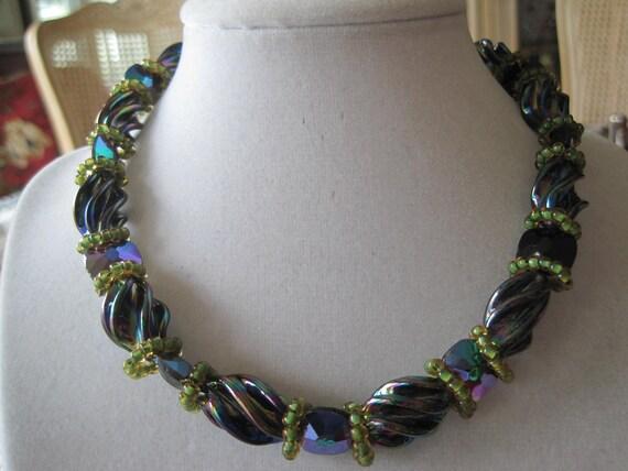 Hobe Art Glass Vintage Necklace Earrings