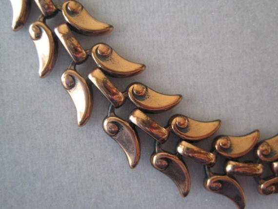 Mid Century Vintage Signed Renoir Copper Necklace
