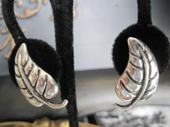 Sterling  Los Castillo Mexico 50s Earrings