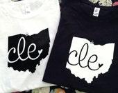 Love Cleveland T-shirt (large)