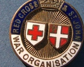 JR Gaunt British Red Cross & St John War Organisation Enamel and Gilt Metal Badge