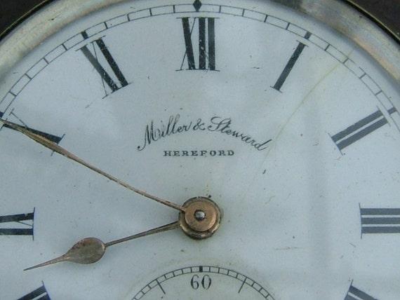 Edwardian Miller & Steward of Hereford Swiss Made Pocket Watch - 2604381