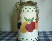 Handpainted Candle Jar