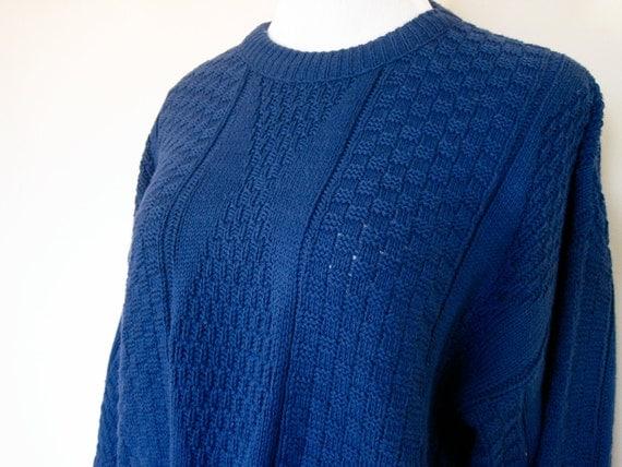 80's Blue Fisherman Sweater