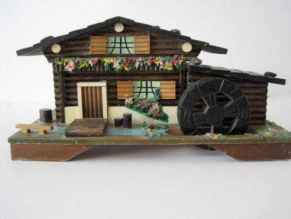 Vintage Chalet Cabin Music Box