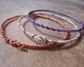 Set of 3 Upcycled OOAK Telephone Wire Bracelets