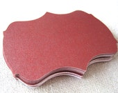 Deep red  2 inch bracket cards -- set of 20 -- journaling, scrapbooking, favor tags, wish tree, escort cards, gift tags