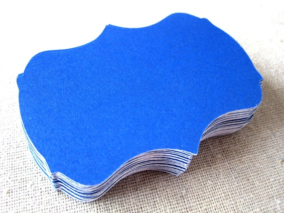 Royal blue 2.5 inch bracket cards -- set of 30 -- journaling, scrapbooking, favor tags, wish tree, escort cards, gift tags